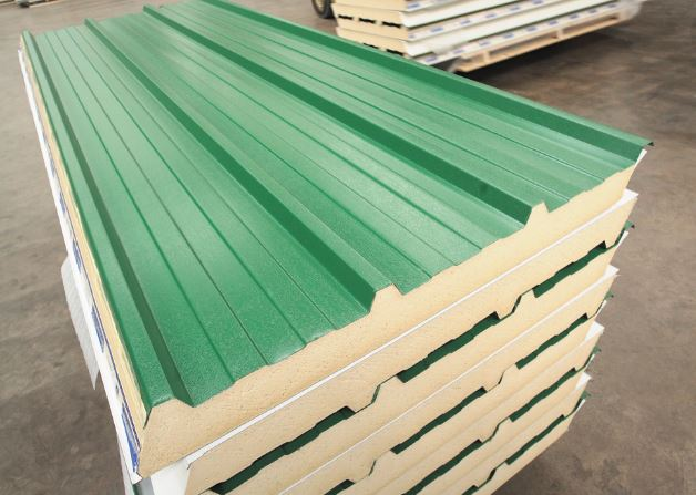 AS35 Wall and Roof Panels palletised for delivery