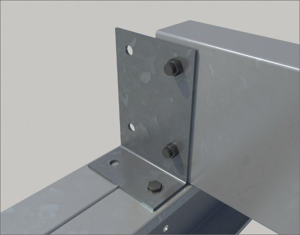 Cleats manufactured from 4mm pre galvanised material