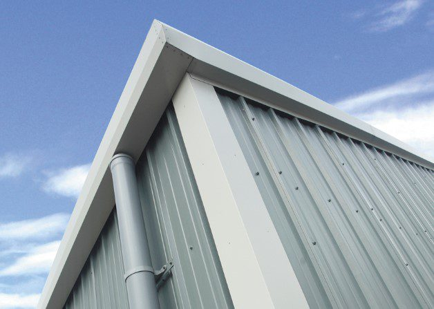 Corner and guttering for AS35 Wall and Roof Panel System