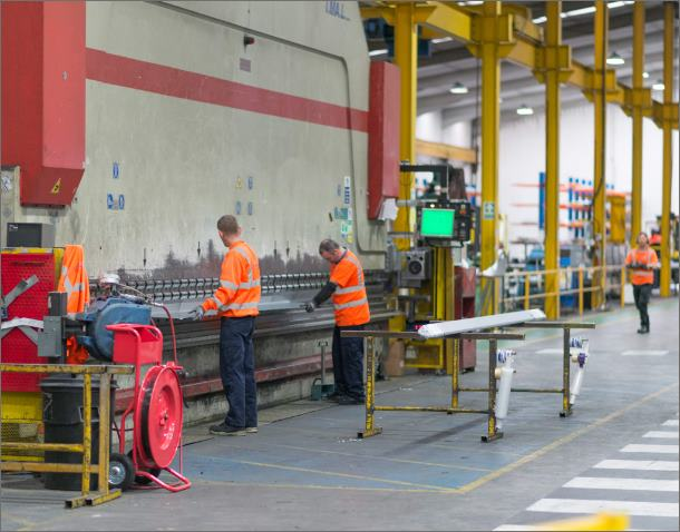 Cutting and folding – up to 10M CNC controlled press brakes