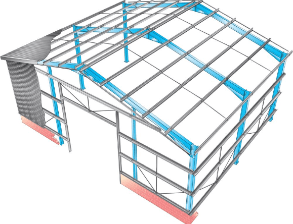 Eaves Beams Framework Schematic Secondary Steelwork Manufacturer
