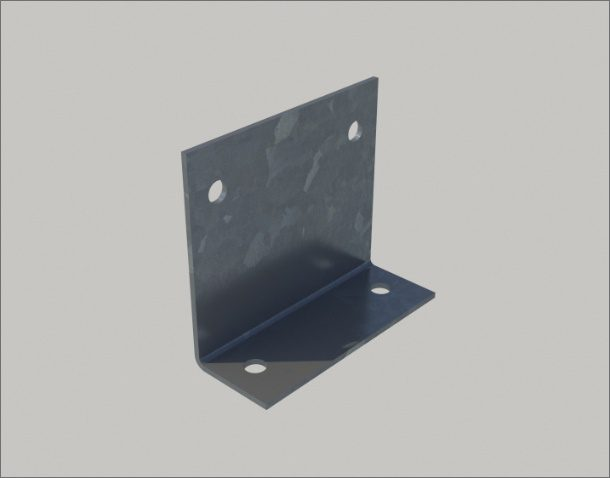 Holes are 18mm diameter for M16 bolts and are normally pierced in