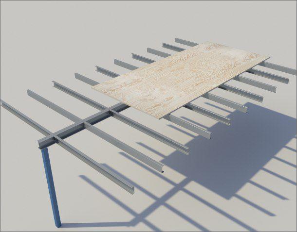 Mezzanine Floors using the web cleat system diagram
