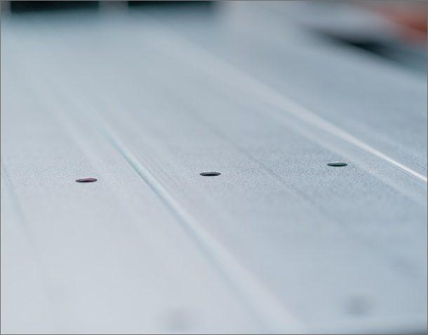 Punching – maximum sheet size 8M × 1 25M × 3mm