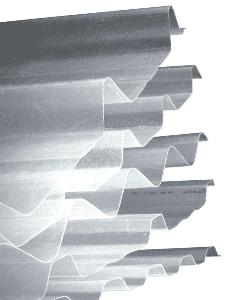 Single skin steel product GRP profiles