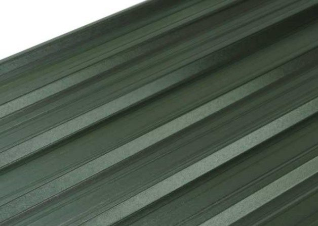 Single skin steel product a medium profile roof and wall sheet